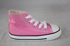 TODDLER CONVERSE CANVAS 7J234 HI TOP PINK/WHITE CASUAL BABY SHOE