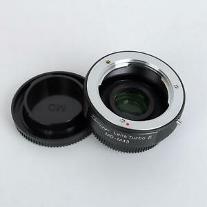Zhongyi Lens Turbo II Focal Reducer Booster Adapter Minolta MD to Micro 4/3 M43