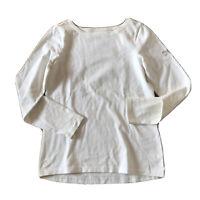 Joules Beige Premium Grade Long Sleeve Jersey Top UK8