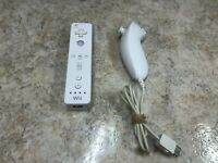 Official Nintendo OEM Wii Remote Wiimote Controller White RVL-003 W/Nunchuck #C3