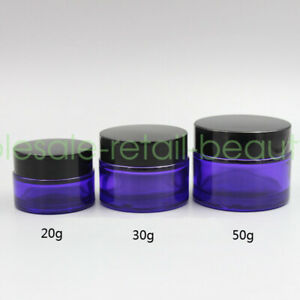 Wholesale Empty Glass Cream Gel Containers 20g 30g 50g Jars Cosmetic Sample Pots
