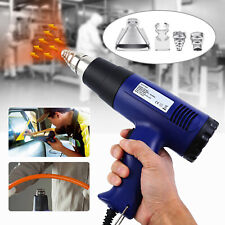 1500W Heat Gun Hot Air Wind Blower Dual Temperature + 4 Nozzles Power Heater
