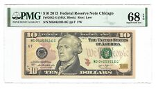 2013 $10 CHICAGO FRN, PMG SUPERB GEM UNCIRCULATED 68 EPQ BANKNOTE