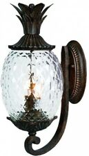 2-Light Pineapple Outdoor Lanterns Wall-Mount Fixture Cast Aluminum Coral Black