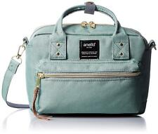 Anello AT-C1223 Shoulder Mini Boston Bag Mint Green Polyester From Japan F/S NEW