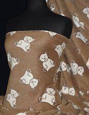 Polar Fleece- Anti Pill Fabric Teddy Bear Toffee PPFL45 TOF