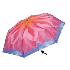 NEW Skyflower Pink Dahlia Collapsible Umbrella by Harold Feinstein