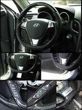 Carbon Steering Wheel CUT D-SHAPED Dcut Fit HYUNDAI 2009-2012 Genesis Coupe