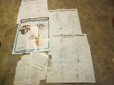 arctic cat snowmobile dealer poster charts 15 total vintage