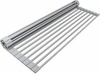 Sorbus Over the Sink Multipurpose Roll-Up Dish Drying Rack (Warm Gray)