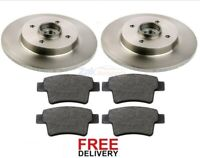 FOR CITROEN C4 GRAND PICASSO REAR BRAKE DISCS & PADS WHEEL BEARINGS ABS RINGS