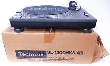 Technics sl-1200/1210 mk2/3 Noir Comme neuf condition rêve état neuf dans sa boîte! 1210mk2