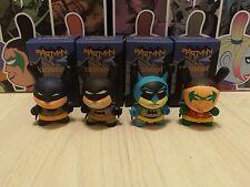 "Kidrobot 3"" Batman DC Comics Dunny Mini Series - 4pcs Set Worldwide Free S/H"