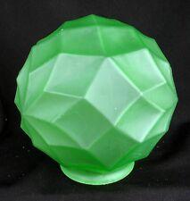 FRANKART LAMP GLOBE SHADE *ART DECO * SATIN GREEN c.1930'S * AUTHENTIC