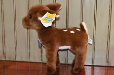 Vintage Dakin Nature Babies Deer Forest Fawn Dark Brown White Spots with Tags