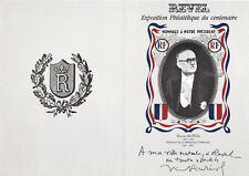 DOCUMENT PHILATELIQUE DE REVEL FDC VINCENT AURIOL  HOMMAGE AU PRESIDENT