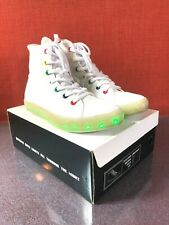 Starry Eyed Jordan06M Canvas White Size Mens 9 Light Up Club Shoes Sneakers#2753