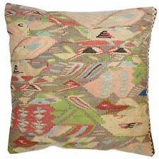"""Barkat Rugs 15"""" x 15"""" Vintage Style Hand-Woven Kilim Pillow Cover Brpsf-2208"""