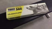 Thule 586 Roof Rack 4 Pair Angled Ski Carrier Clamp On Skiing Snow Winter Travel
