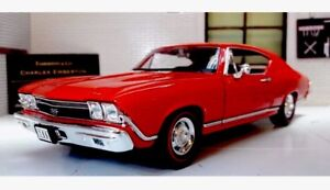 1:24 Chevrolet Chevelle SS Red 1968 Model Car Welly 29397 G