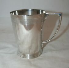 Vintage Art Deco Mappin & Webb Keith Murray Designed Silver Plated Tankard