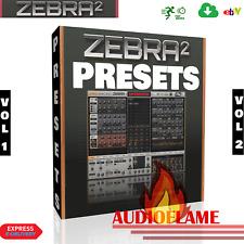 Zebra  61,000 Presets Pack - Ableton, Cubase, Logic, FL Studio, Vol 1 Vol 2