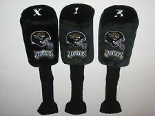 Jacksonville Jaguars Set of 3 Plush Golf Club Headcovers (X,1,3)