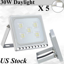 5X Viugreum 30W Ultra-thin LED Flood Lights Daylight Outdoor Security Fixtures