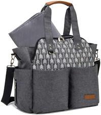 Lekebaby Baby Nappy Changing Bag Satchel Messenger Large Capacity, Arrow Print,
