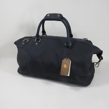 Links & Kings Leather Duffel Tote Bag Navy Blue 20x10x10 Dell Golf Championship