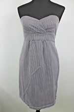 Corpo Class Volcom Dress size M Womens Lavender Black Stripe Strapless Bustier