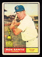 1961 TOPPS #35 RON SANTO CUBS ROOKIE