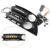 2x Nebelscheinwerfer Gitter LED Tagfahrlicht Blinker für Audi A4 B6 Sedan 01-05