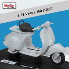 1:18 Alloy Diecast Model Genunie Toy 1956 Vespa 150 Scooter Motorcycle By Maisto