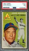 1954 TOPPS #147 JOHNNY RIDDLE PSA 7 CARDINALS CO NICELY CENTERED  *K2815