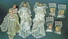 Mangelsen's Porcelain Girl Doll with Parts Lot of 7 Heads, Hands, Feet