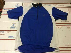Canari 1/4 Zip Biking Cycling Jersey Mens Size XL Shirt Blue Polyester