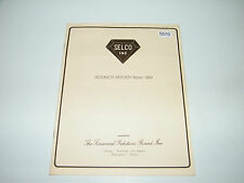 Selco Inc Jewelry 1969 Winter Research Report