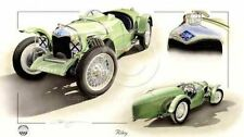 Riley NOVE 9 Brooklands velocità modello 1929 NUOVA Pittura Stampa opera d'arte Chris DUGAN