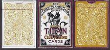 2 DECKS Global Titan Club white & gold playing cards