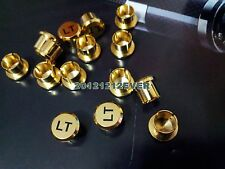 10Pcs RCA Cap Protector Dust Brass Gold Plated Noise Stopper Shielding Cap
