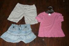 4 Tcp jean skirt adj waist Xs 4/5 Cherokee khaki shorts pink shirt Vguc Lot of c