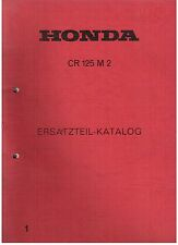 Parts List Teilekatalog Honda CR 125 M2, CR125 Elsinore, Top Zustand, Katalog