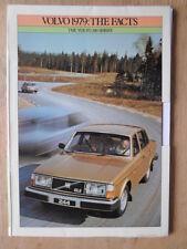 Volvo 200 série 1979 uk marketing les faits brochure portfolio avec 6 dossiers