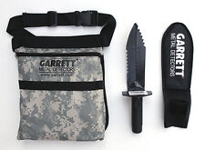 Garrett EDGE Metal Detector DIGGER With SHEATH & CAMO FINDS Pouch COMBO