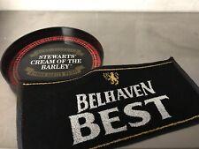 Stewarts Tartan Pub Whisky Tray Plus Belhaven Mat