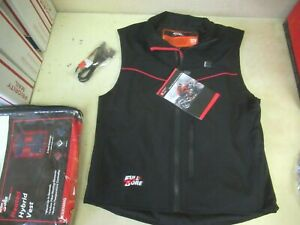 """3 SETTINGS HEATED ELECTRIC VEST  """"E-DUO"""" - INCLUDES 12V HOOK-UP  MENS XL  BLACK"""