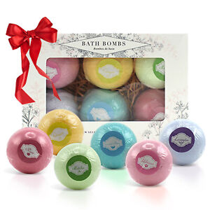 Luxury Bath Bombs Christmas Day Gift Set Bubble Spa Scented Premium Soap Bar
