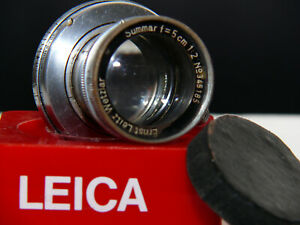 LEICA SUMMAR SM LENS 5CM/2 - MADE IN GERMANY.  SEE TEST IMAGES