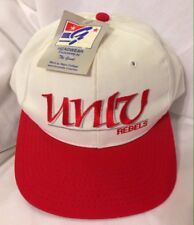 69e177e25ceba Vintage Deadstock 90 s UNLV Runnin Rebels The Game Snapback Hat Cap White
